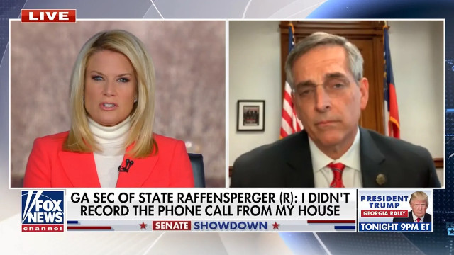 Fox Host MacCallum Presses Raffensperger On Leaked Call; Says It Feels Like He Has A 'Grudge'