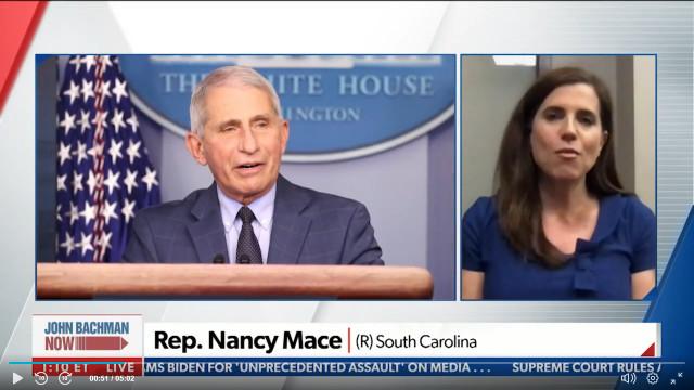 Rep. Nancy Mace Tells Newsmax 'Fauci Needs To Go'