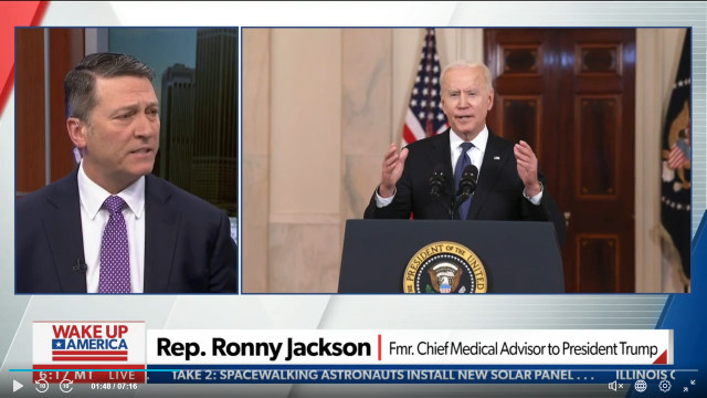 Rep. Jackson Says Biden's Cognitive Problems Will End Up Getting Worse