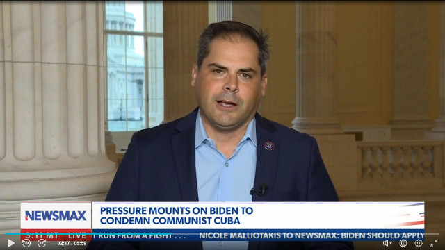 Rep. Mike Garcia Hammers Biden Administration, Says They Are 'Hell Bent' On Helping 'Bad Guys' In Cuba Unrest
